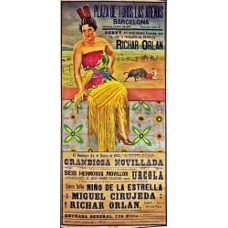 PLAZA TOROS LAS ARENAS 1935 ADELITA BORZA