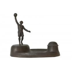 FOOTBALL. ETUDE DE TABELLION EN BRONZE. GARDIEN DE BUT. Ca.1910