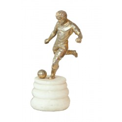 SOCCER. METAL. BRONZE PATINA. Ca. 1940