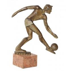 FOOTBALL. METAL. Ca. 1950