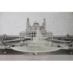 PARIS, LE PALAIS DU TROCADÉRO. EXP. UNIVERSELLE DE 1878