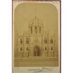 PROJET D'AUGUST FONT DU CIMBORIO DE LA CATHEDRALE DE BARCELONE. PROPOSÉ PAR LE COMTE DE GÜELL