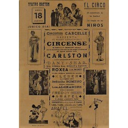 LOGROÑO 18/04/1940. CIRCO CARCELLE-CARLSTON