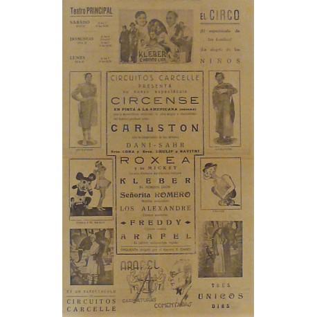 SAN SEBASTIAN/DONOSTI 20-21-22/04/1940. CIRCO CARCELLE-CARLSTON