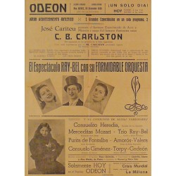 HUESCA 28-12-1939. ILUSIONISTA SUIZO C. B. CARLSTON / RAY-BEL