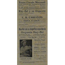 IGUALADA (CATALUÑA) 1-1/1940. ILUSIONISTA SUIZO C. B. CARLSTON / RAY-BEL