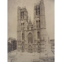 BRUXELLES, L'Eglise Ste Gudule (Cathedrale). N.D. Phot.