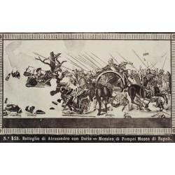 NAPOLI, Battaglie di Alessandro con Dario-Mosaico di Pompei. Museo di Napoli