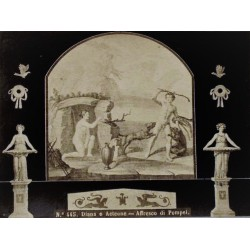 NAPOLI, Diana e Acteone - Affresco di Pompei
