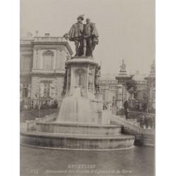 BRUXELLES, MONUMENT des Comtes d'Egmont et de Horn