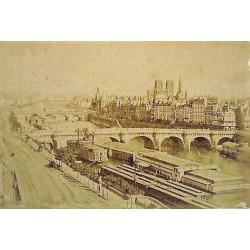 PARIS, LA SEINE. Ca. 1860