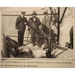 BARCELONA, . Alberto Rusiñol visita el Pozo artesiano de Matadero