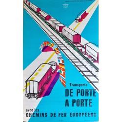 CHEMINS DE FER EUROPEENS. DE PORTEA PORTE /
