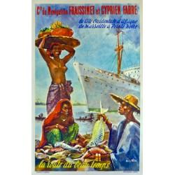 Cie. NAVIGATION FRAISSINET ET CYPRIEN FABRE. LA ROUTE DU BEAU TEMPS /