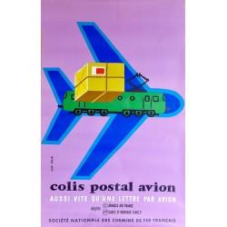 COLIS POSTAL PAR AVION. SNCF /