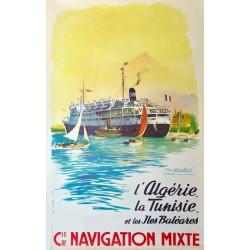 Cie. NAVIGATION MIXTE. L'ALGERIE, LA TUNISIE ET LES ILES BALEARES /
