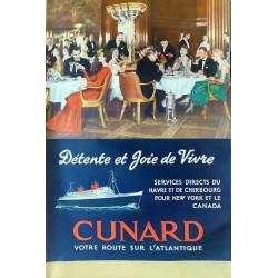 CUNARD VOTRE ROUTE SUR L'ATLANTIQUE. (Queen Mary) /