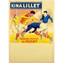 GRAND MATCH DE RUGBY (Football). KINA LILLET /