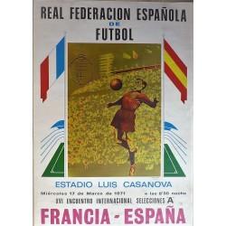 REAL FEDERACION ESPAÑOLA DE FUTBOL. FRANCIA - ESPAÑA