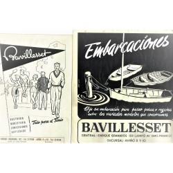 """30 MAQUETAS PUBLICITARIAS DEPORTES """"BAVILLASSET"""" (ARTIGAS, HUMA, ETC.)"""
