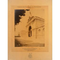 BARCELONA, EXPOSICIÓN UNIVERSAL DE BARCELONA 1888. Nº 17 . OBRAS