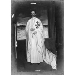 PINTURA ALFONSO XIII CON CAPA DE LA ORDEN DE SANTIAGO