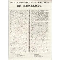 LES MAIRES CONSTITUTIONNELS DE LA VILLE DE BARCELONE. 1840. VOITURES