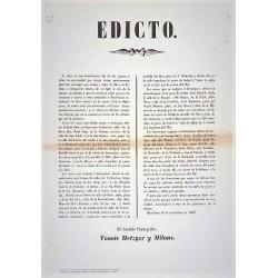 BARCELONA 1846. CHARRIOTS. EDIT DU MAIRE TOMAS METZGER Y MILANS