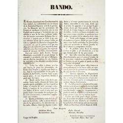 BANDO. BARCELONE 1838. FÊTE CORPUS CHRISTI