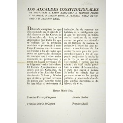 LES MAIRES CONSTITUTIONNELS. BARCELONE 1823. MARINERIE