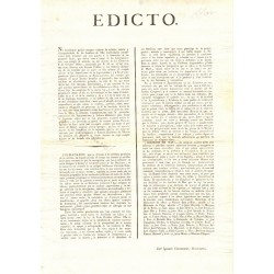EDICT. BARCELONE 1820. HOMMES DE MER