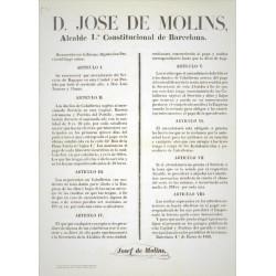 JOSE DE MOLINS ALCALDE DE BARCELONA 1856. CABALLERIAS