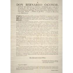 BERNARDO O'CONOR GOBERNADOR DE BARCELONA 1779. PESCA SALADA