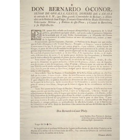 BERNARDO O'CONOR GOVERNOR OF BARCELONA 1779. SALT FISHING