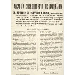 ALCALDIA CORREGIMIENTO DE BARCELONA 1865. PUERTO.