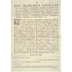 FRANCISCO GONZALEZ. COMTE DEL ASALTO. BARCELONE 1785. PAPIER SCELLÉ