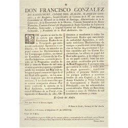 FRANCISCO GONZALEZ. CONDE DEL ASALTO. BARCELONA 1785. PAPEL SELLADO