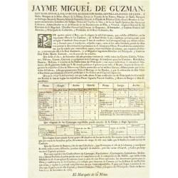 JAYME MIGUEL DE GUZMAN. GOBERNADOR BARCELOANA 1765. CARRUAGES