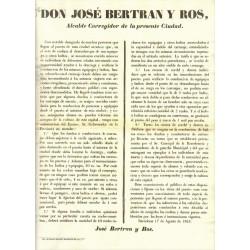 JOSE BERTRAN Y ROS. MAIRE DE BARCELONE. 1853. TRANSPORT