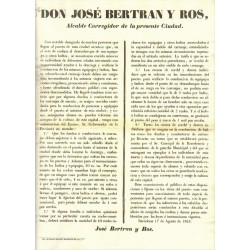 JOSE BERTRAN Y ROS. MAYOR OF BARCELONA. 1853. TRANSPORT