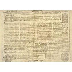 BULL FOR THE KINGDOM OF ARAGON. YEAR OF MDCCCXVII (1817)
