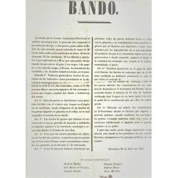 BANDO ALCALDES CONSTITUCIONALES. BARCELONA 1856. CARRUAJES DE LUJO Y PERROS