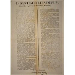 SANTIAGO LUIS DUPUY. ALCALDE. BARCELONA 1852. CARRUAJES