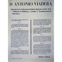 ANTONIO VIADERA. MAIRE. BARCELONE 1855. BAGAGES