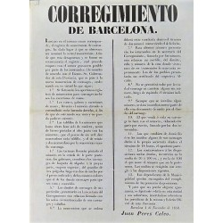 BARCELONA. 1850. REGISTRATION OF CARRIAGES