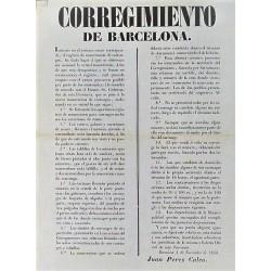 BARCELONE. 1850. ENREGISTREMENT DES VOITURES