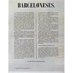 BARCELONESES 14 AUGUST 1847. INAUGURATION PUERTA ISABEL IIª