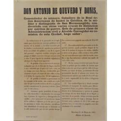 ANTONIO DE QUEVEDO. ALCALDE. BARCELONA 1865. CARRUAJES
