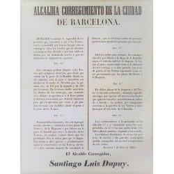 MAIRE DE LA VILLE DE BARCELONE. 1852. THÉÂTRE
