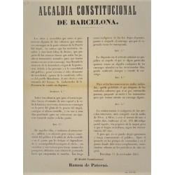 HÔTEL DE VILLE CONSTITUTIONNELLE BARCELONE 1851. VOITURES
